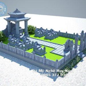 Bản vẽ phối cảnh khu lăng mộ đá, Phối cảnh 3D Khu lăng mộ đá đẹp tại Thanh Hóa