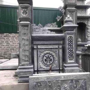 Cổng khu lăng mộ, Cổng đá tứ trụ khu lăng mộ đá