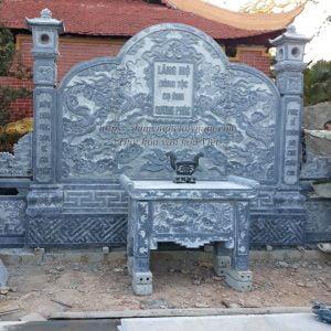 Cuốn thư lăng thờ đá chạm rồng kèm bàn lễ đá đẹp, Cuốn thư lăng mộ đá, cuốn thư đá