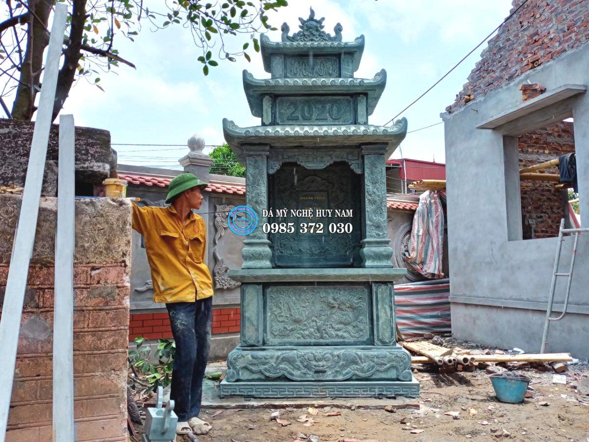 Tổng thể lăng đá thờ thiên tại nhà thờ họ Nguyễn Quý - Yên Mỹ - Hưng Yên