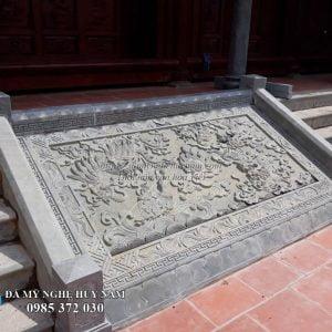 Nhà thờ Họ tại Thanh Hóa, Mẫu chiếu rồng đá chạm tứ linh đẹp, Mẫu chiếu rồng đá nhà thờ họ
