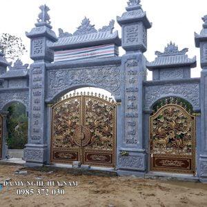 cổng tam quan đá đẹp 11, cổng đá tam quan, cổng làng, cổng đình, cổng chùa