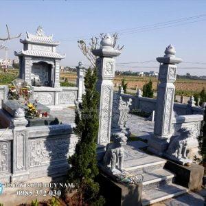 Cột đá, Cột cổng đá, Cổng đá khu lăng mộ đá Nam Định