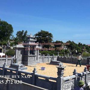 Công trình lắp đặt Khu lăng mộ đá đẹp tại Quảng Bình